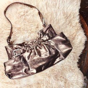 Kenneth Cole Leather Bronze Metallic Purse